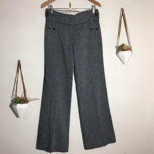 Anthropologie   Leifsdotter gray wide leg pants